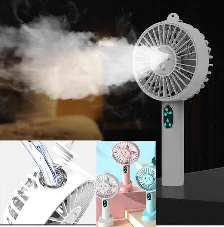 Portátil ventilador de névoa de água usb portátil bateria recarregável mini ventilador mão rosto pulverizador vapor beleza umidificador ventilador refrigerador