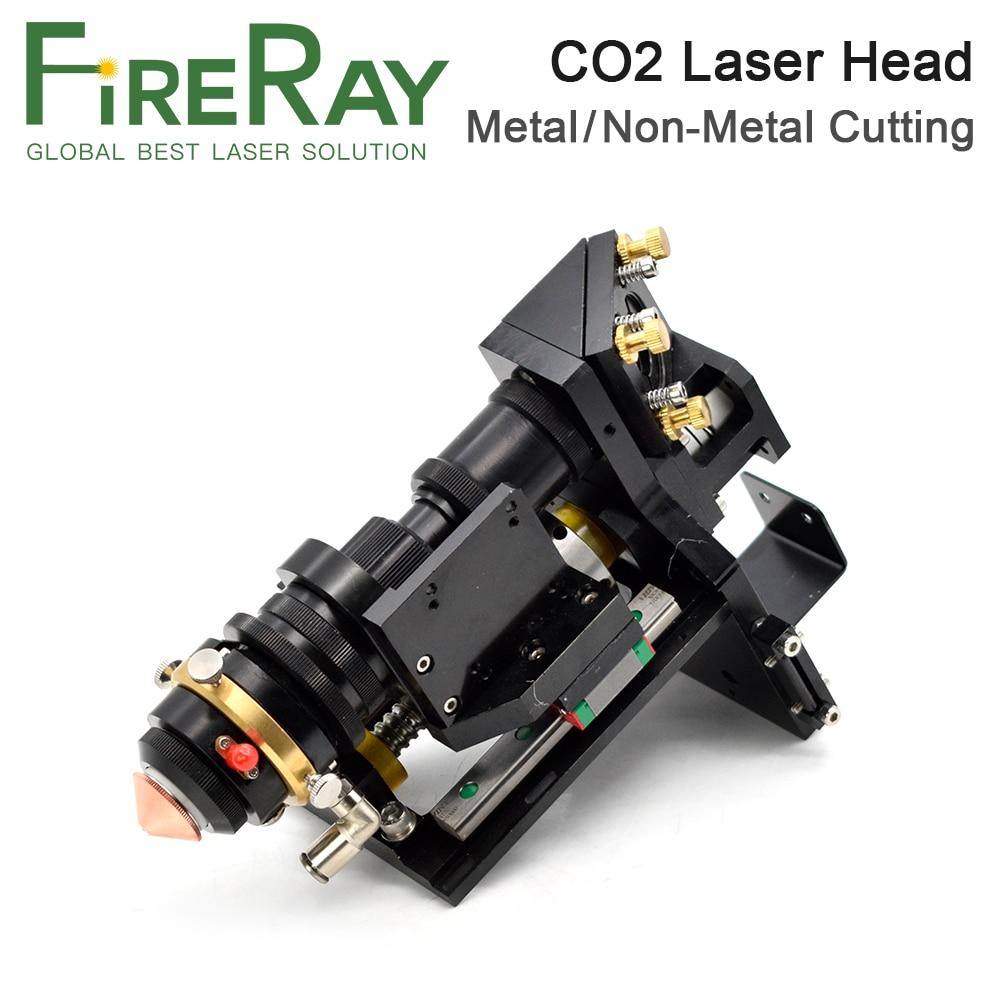 Fireray Mixed CO2 Laser Cut Head 500W Focus Lens 25x63.5 25x101.6mm Reflect Mirror 30x3mm Metal Non-Metal Hybrid Auto Focus