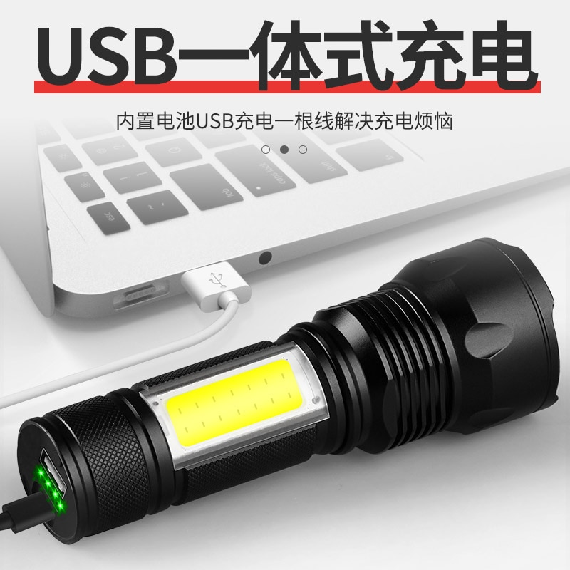 Portable Outdoor Flashlight Waterproof Multifunction Camping Rechargeable Flashlight Linterna Led Lighting Torches DB60SD enlarge