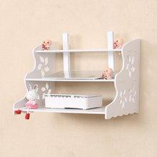 Set Top Box Frame Router Shelf StorageWaterproof Wood-Plastic Board Storage Wall CabinetLiving Room Office White