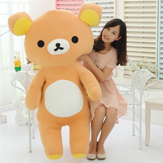 Rilakkuma Kawaii marrones grandes muñeco de peluche Animal estilo japonés Rilakkuma juguete peluche Regalo de Cumpleaños 140CM de alto