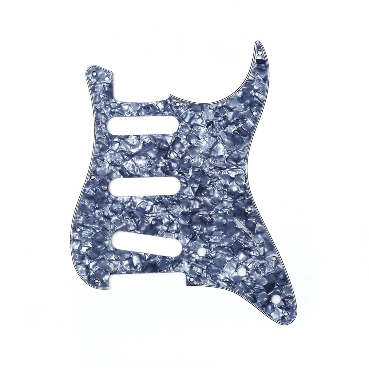 Musiclili SSS 11 Hole Strat Guitar Pickguard para Fender USA/estilo estratocaster estándar...