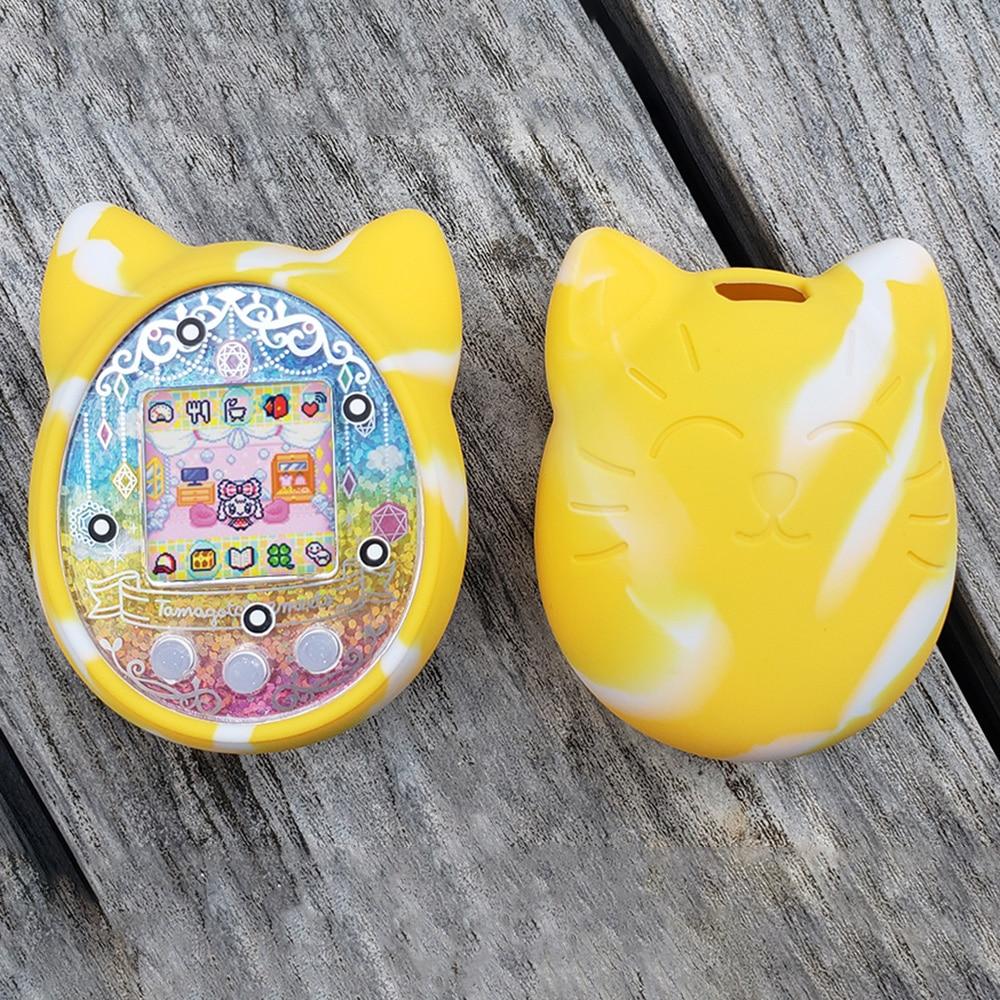 Funda protectora linda de silicona para máquina de juegos de mascotas para máquina de juegos de animales electrónicos de dibujos animados de mano para mascotas de juguete Virtual para niños