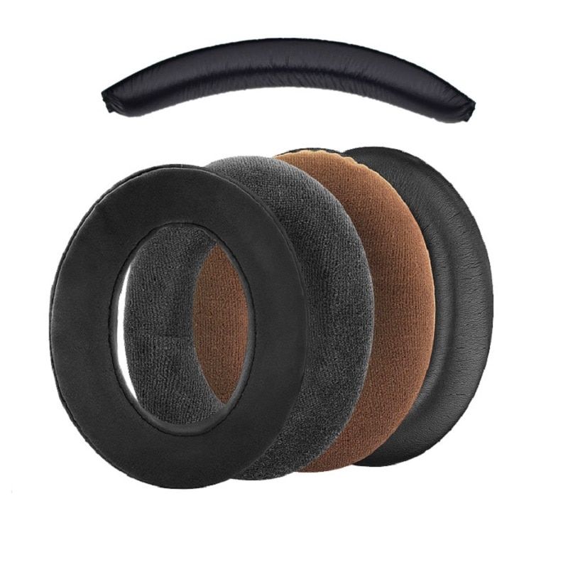 Leather Flannel Earpads Ear Cushion Cover Soft Comfortable Headband for  Sennheiser HD380 G4ME Zero Game Zero Headphone enlarge