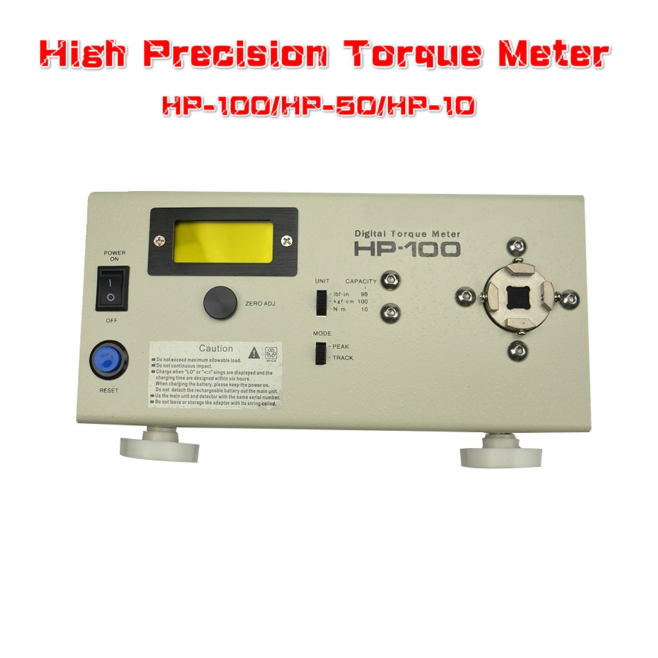Verificador bonde do torque da chave de fenda do verificador do medidor de torque de digitas hp-100 da elevada precisão-50 hp-20 do medidor de torque
