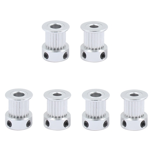 1Pcs Aluminum GT2 11mm Width 24 Tooth Teeth 2GT Timing Drive Pulley Pully Wheels Gear For 3D Printer Bore=5mm/6mm7mm/8mm