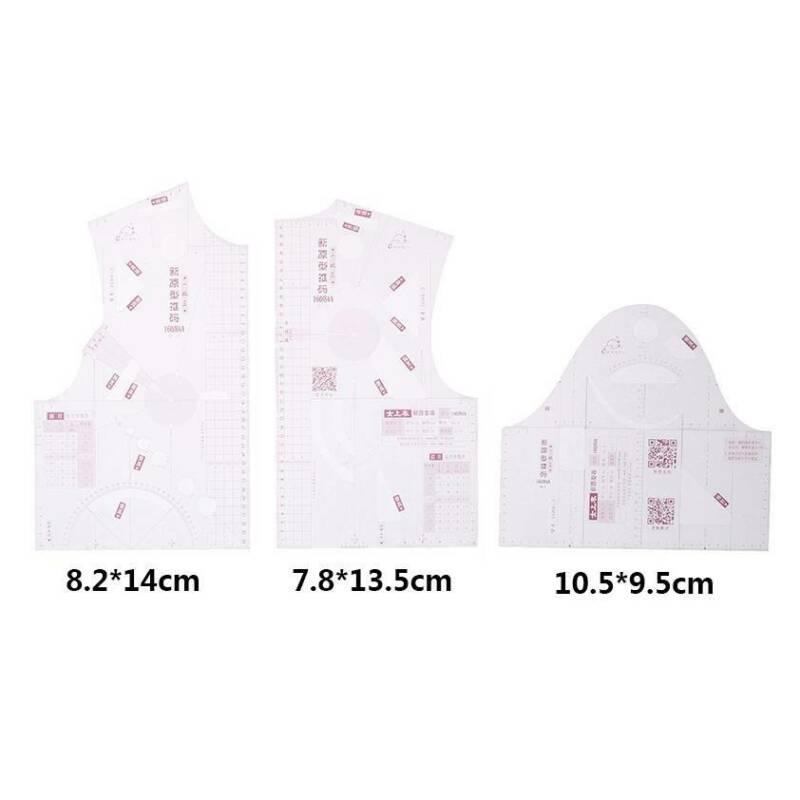3 шт./компл. 1:3 модный дизайн мини линейка тканевый школьница Teching одежда рисование