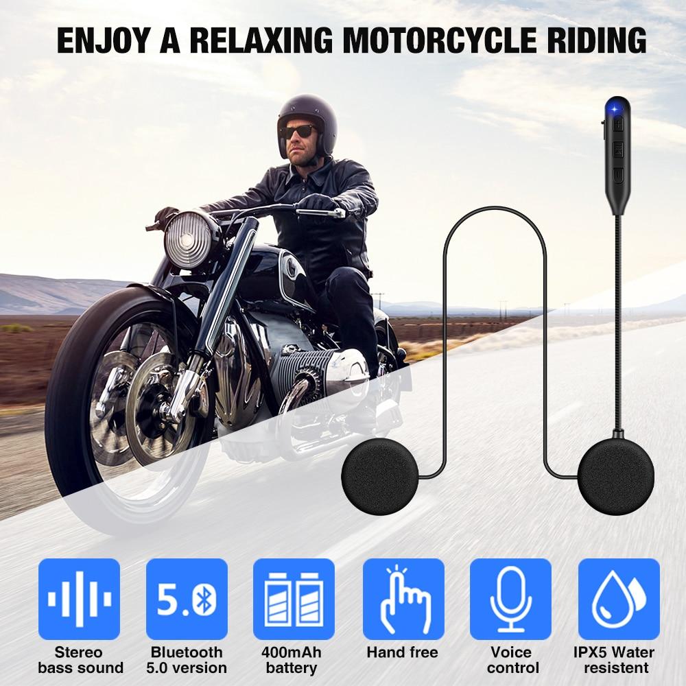 Fodsports HM-1 BT 5.0 Motorcycle helmet headset wireless bluetooth headphone with FM headset stereo music A2DP speaker 400 mAh
