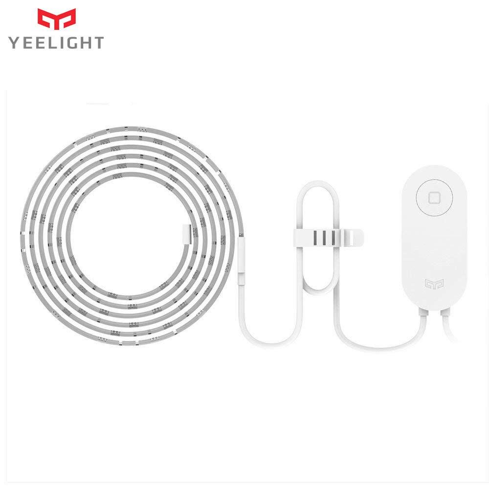 Tira de luces LED Yeelight RGB, tira inteligente de luces LED extensible de 1m con WiFi para Mi aplicación para hogares, funciona con Alexa y asistente de Google Home