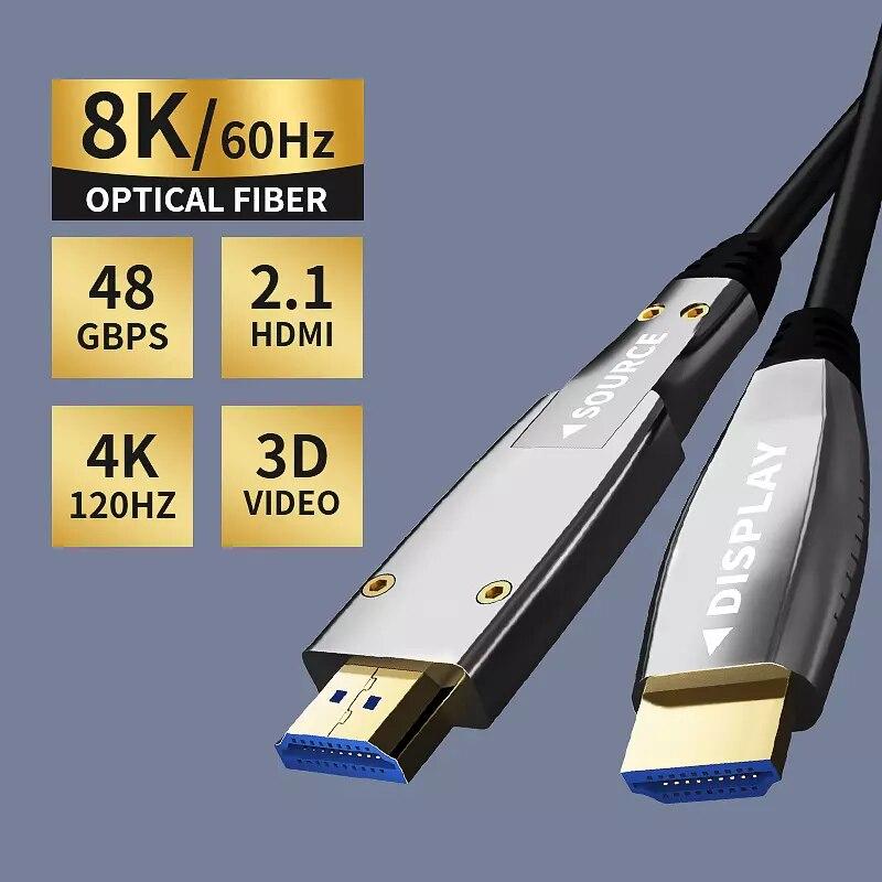 HDMI-Compatible To Optical Converter Fiber HDMI-Compatible 2.0 Cable 10M/20M/30M/50M 60Hz Extender 4