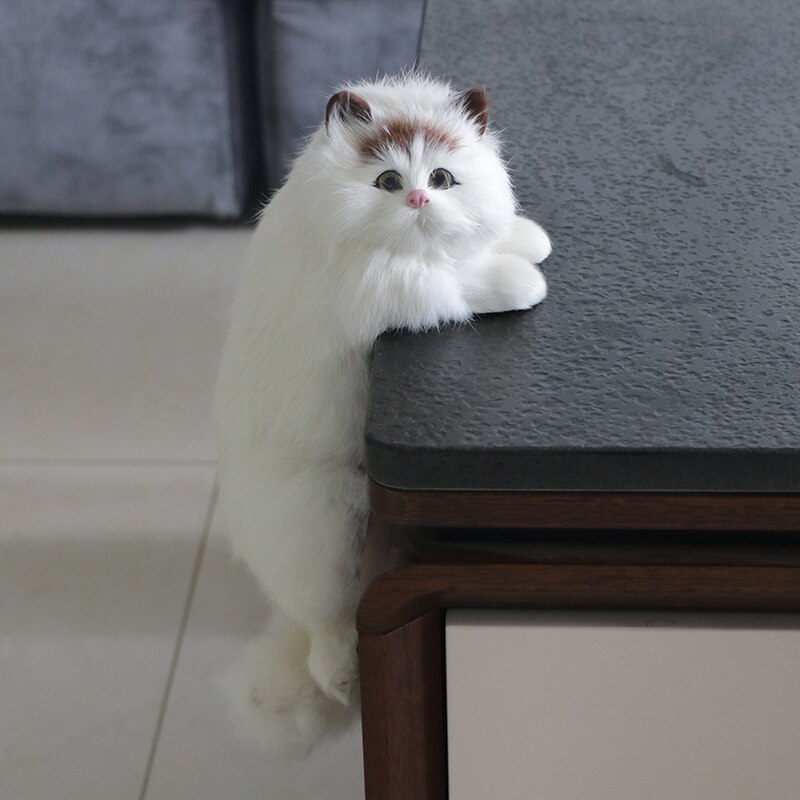 Simulation Cat Animal Model Creative Decoration Home TV Crafts Plush Toy Doll Cute Birthday Gift