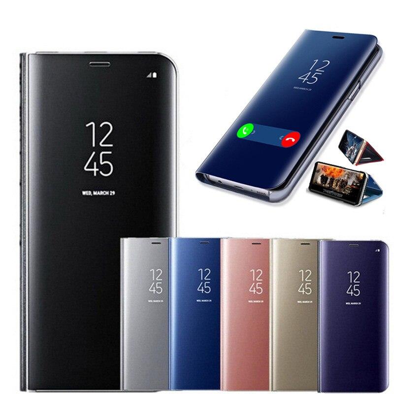 Зеркальный флип-чехол для huawei P8 P9 Lite 2017 P10 P20 P30 Pro Коврики 10 20 P Smart 2019 Y5 Y7 Y9 2018 Honor 7C 8X Роскошный чехол для телефона