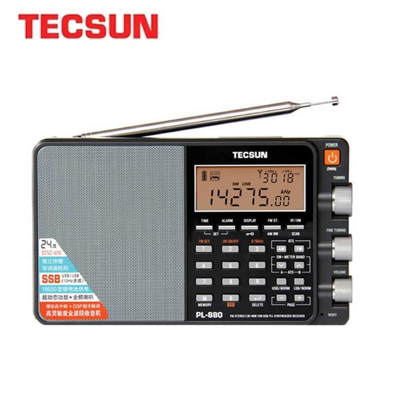 TECSUN PL-880 المحمولة راديو فرقة كاملة مع LW/SW/MW SSB PLL طرق FM (64-108 mHz) 87.5-108 MHz (ألمانيا) الإنترنت ستيريو راديو