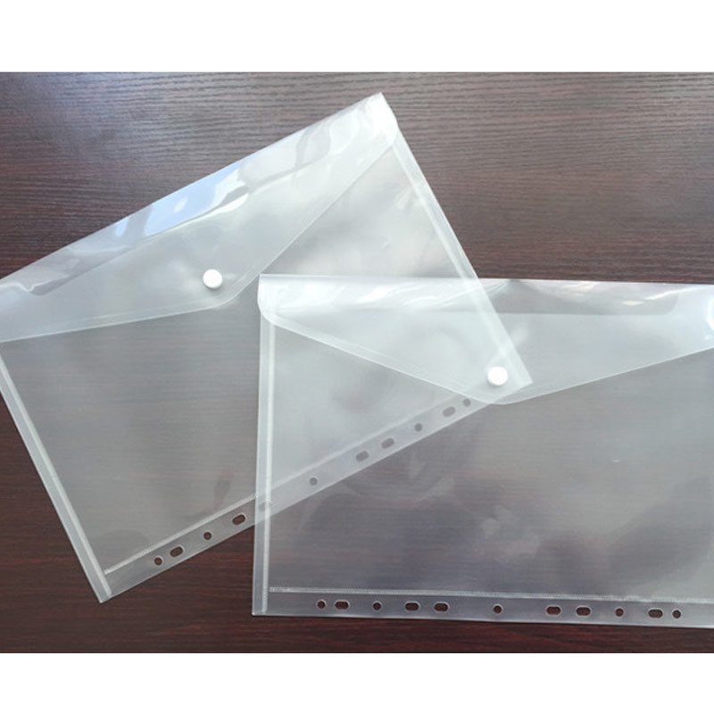 10pcs 11 Hole Transparent A4 Document File Bag Plastic Folder File Bill Envelope Storage Bag Data School Student Test Paper Bag