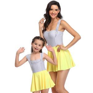 2020 parent-child swimwear high-waist swimsuit women and girls one pieces swimsuits high waist swimwear bikini sexy  LX20016