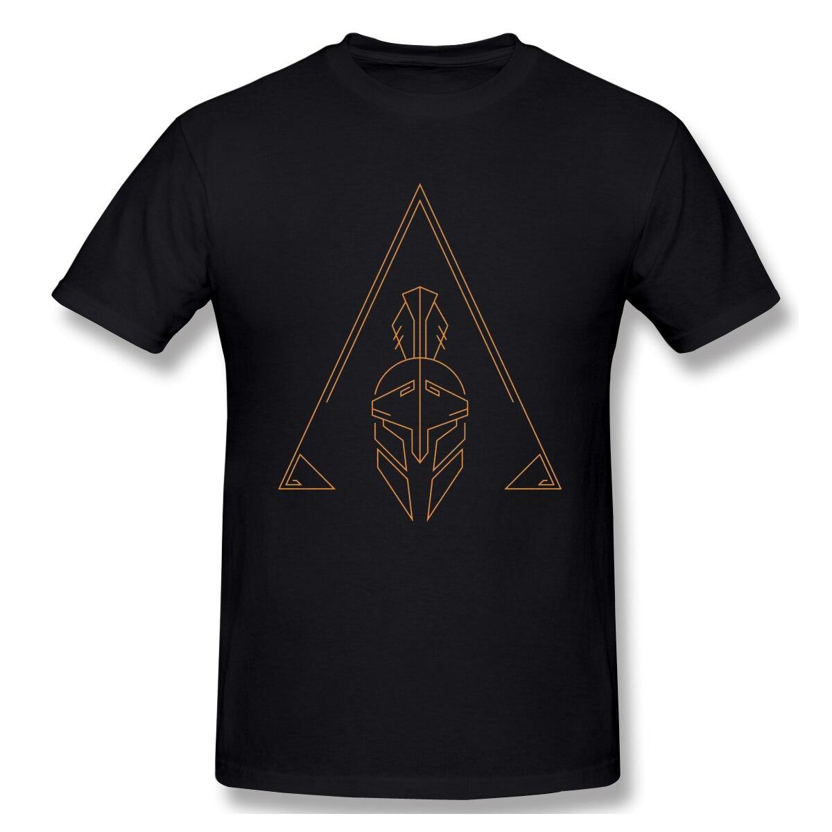 Mężczyźni assassins creed t-shirty śmieszne wokół szyi z krótkim rękawem topy Assassins Creed Odyssey czyste koszulki bawełniane zabawna koszulka Harajuku