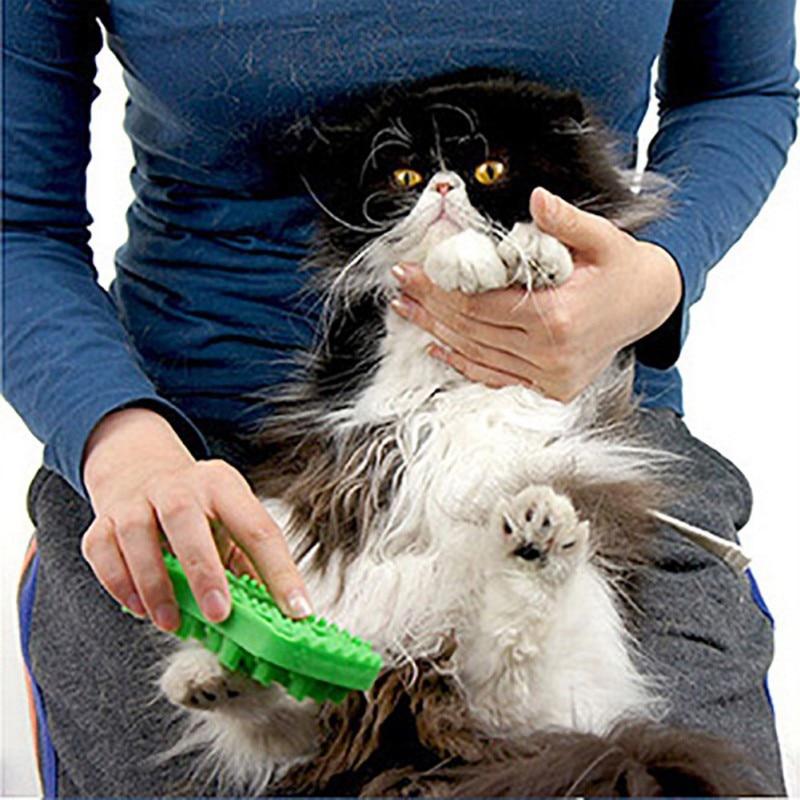 Pet Dog Comb Cat Massage Comb Hair Fit Bath Massage Cleaning Pets Comb Brush Dog Hair Remover Rake C