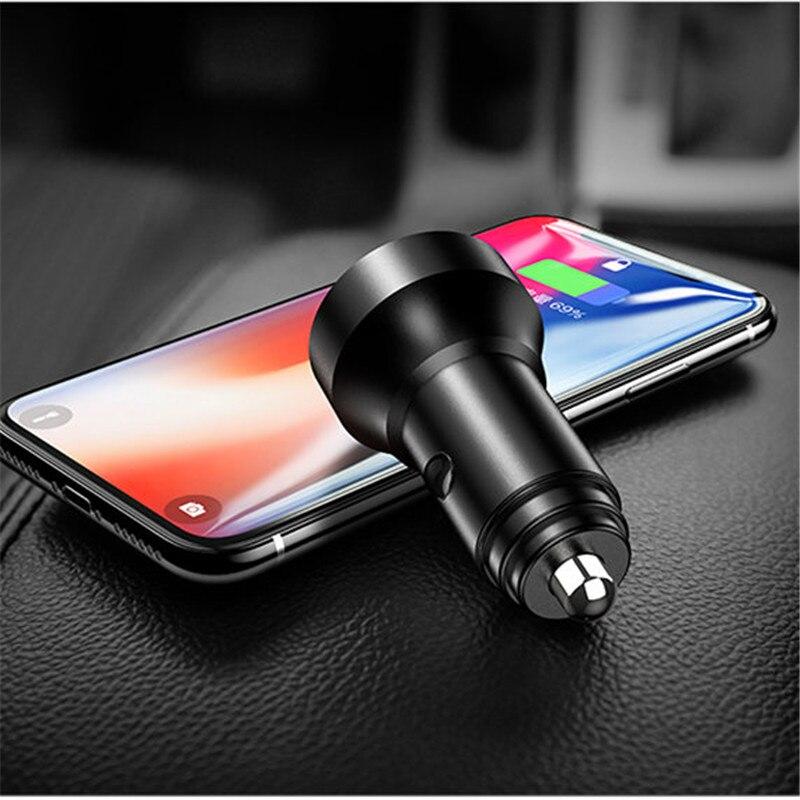 3.1A cargador Dual del coche del USB pantalla LED para Audi A1 A3 A4 B6 B8 B9 A3 A5 A6 A7 A8 C5 Q7 Q3 Q5 Q5L SQ5 R8 TT S5 S6 S7 S8