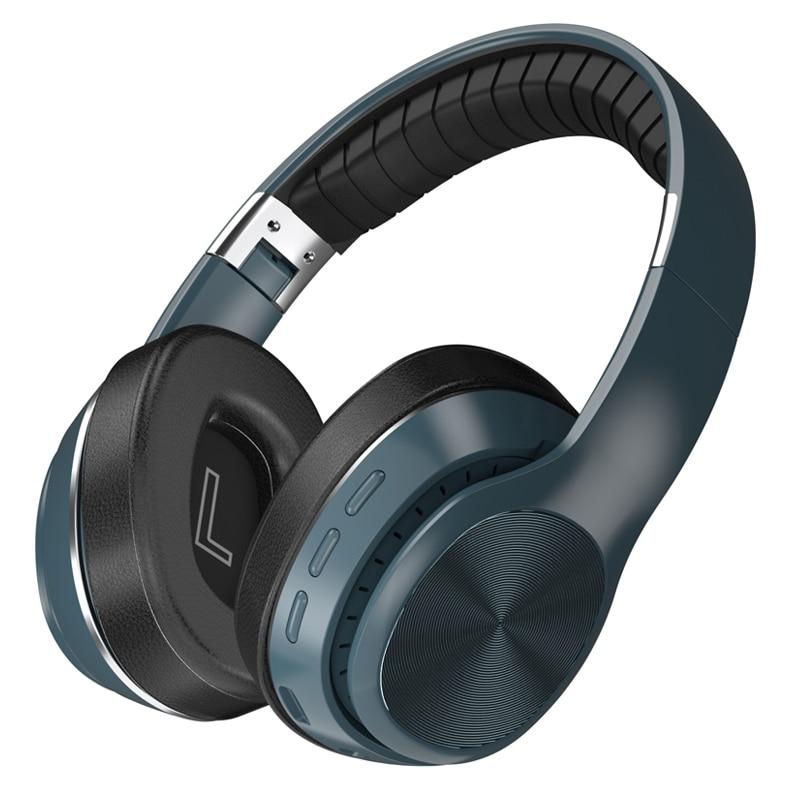 Tourya-سماعة رأس لاسلكية قابلة للطي عبر Bluetooth 5.0 ، وسماعة رأس فوق الأذن مع دعم استريو TF وميكروفون لهاتف xiaomi والكمبيوتر الشخصي