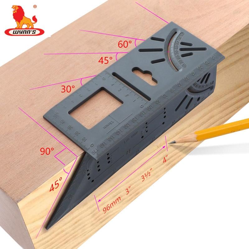 Holzbearbeitung Scribe Platz 45 Grad 90 Grad T Herrscher ABS Kunststoff Verdicken 3d Gehrung Winkel Mark Linie-Mess Werkzeuge