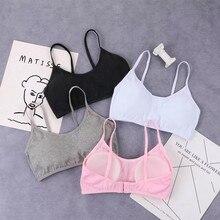 Girls Bra Teens Teenage Underwear Sport Children Cotton Puberty Kids Bras 8-15Years training bras wi