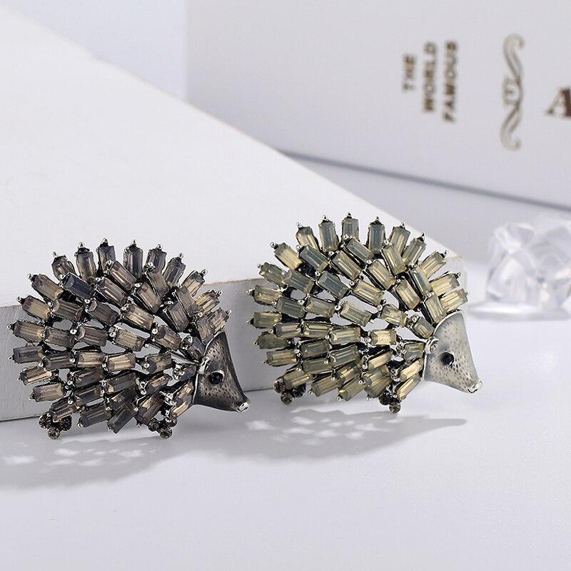 Broches de erizo de esmalte salvaje puercoespín Pin niños abrigo bolsa insignias joyería de moda lindo Animal broche Unisex Broches