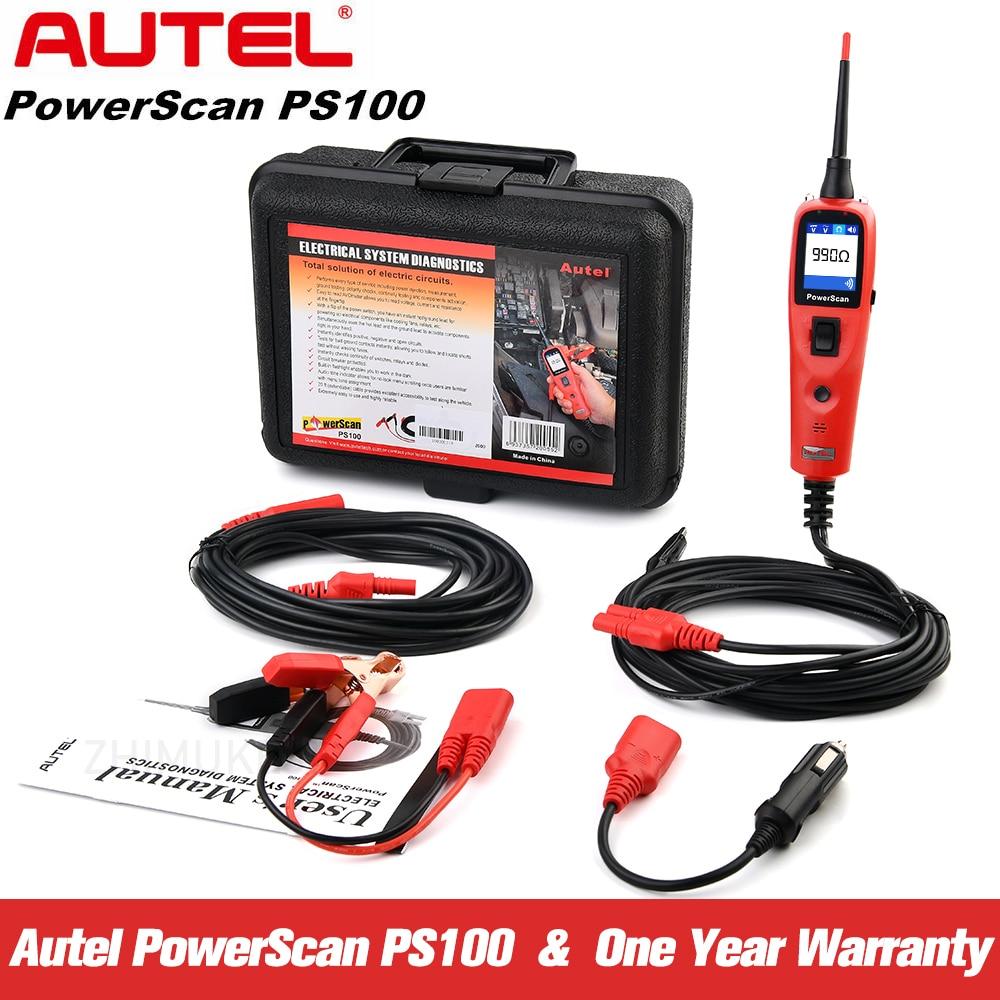 Autel-نظام فحص الدائرة الكهربائية الأوتوماتيكي ، جهاز فحص الطاقة PS100 ، نظام التشخيص