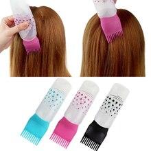 170Ml Multicolor Plastic Haarverf Hervulbare Fles Applicator Kam Doseren Salon Haarkleuring Kappers Styling Tool