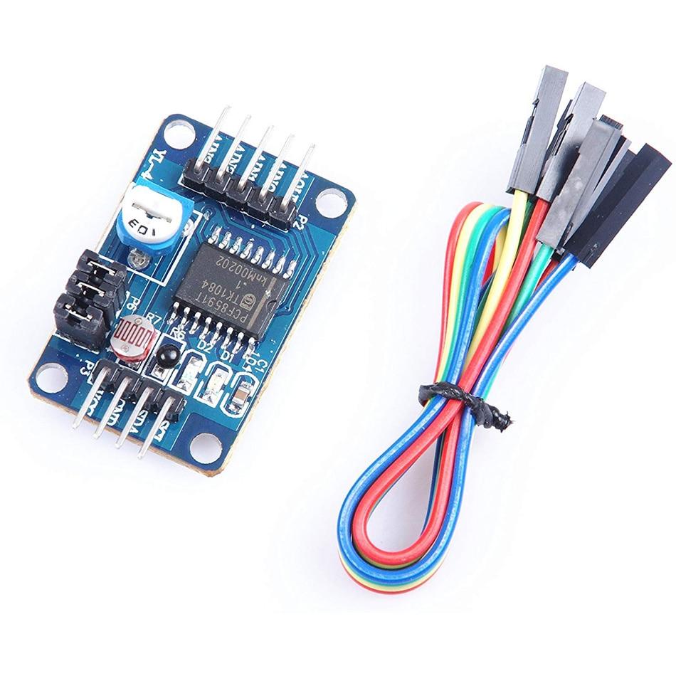 Новый модуль преобразователя PCF8591, модуль AD DA, аналоговый в цифро-аналоговый преобразователь модуль