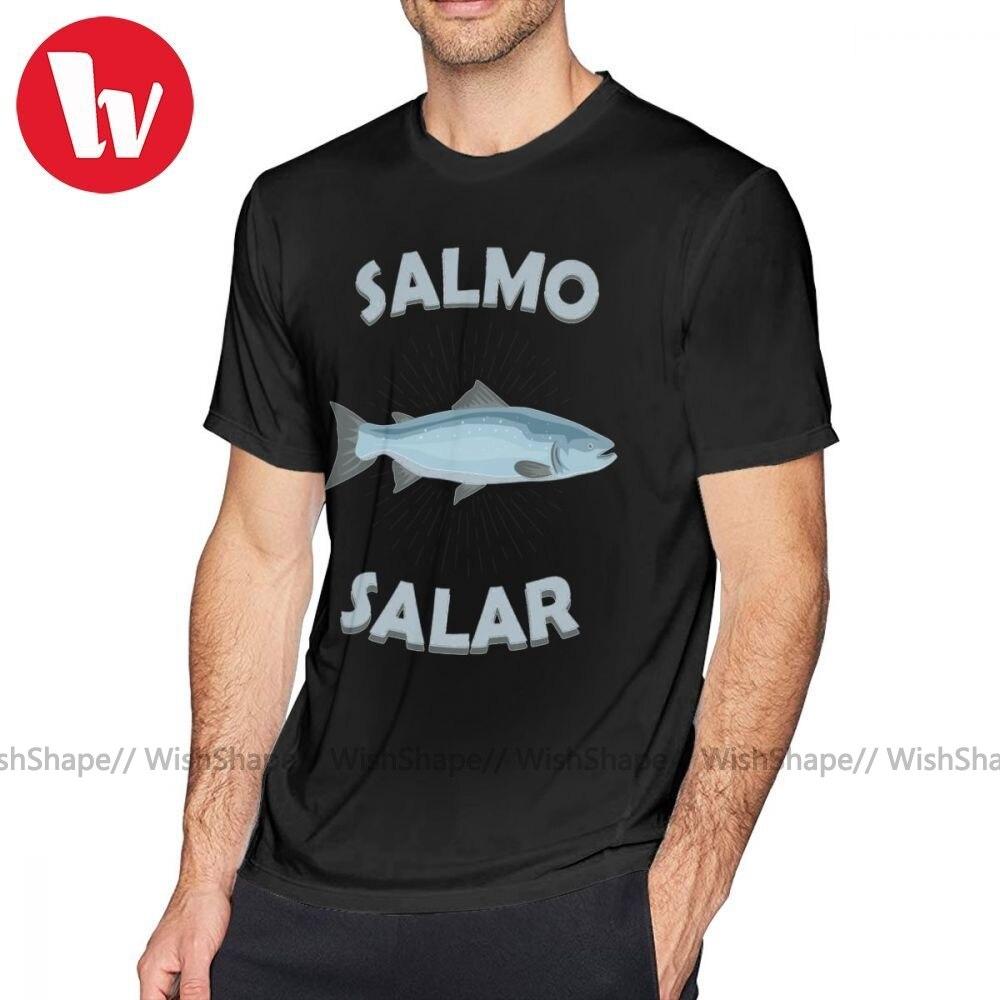 Camiseta Salmo Salar Atlantic Salmon Salmonide, regalo de pesca, camiseta con motivo de pescador, camiseta de manga corta 100 por ciento de algodón