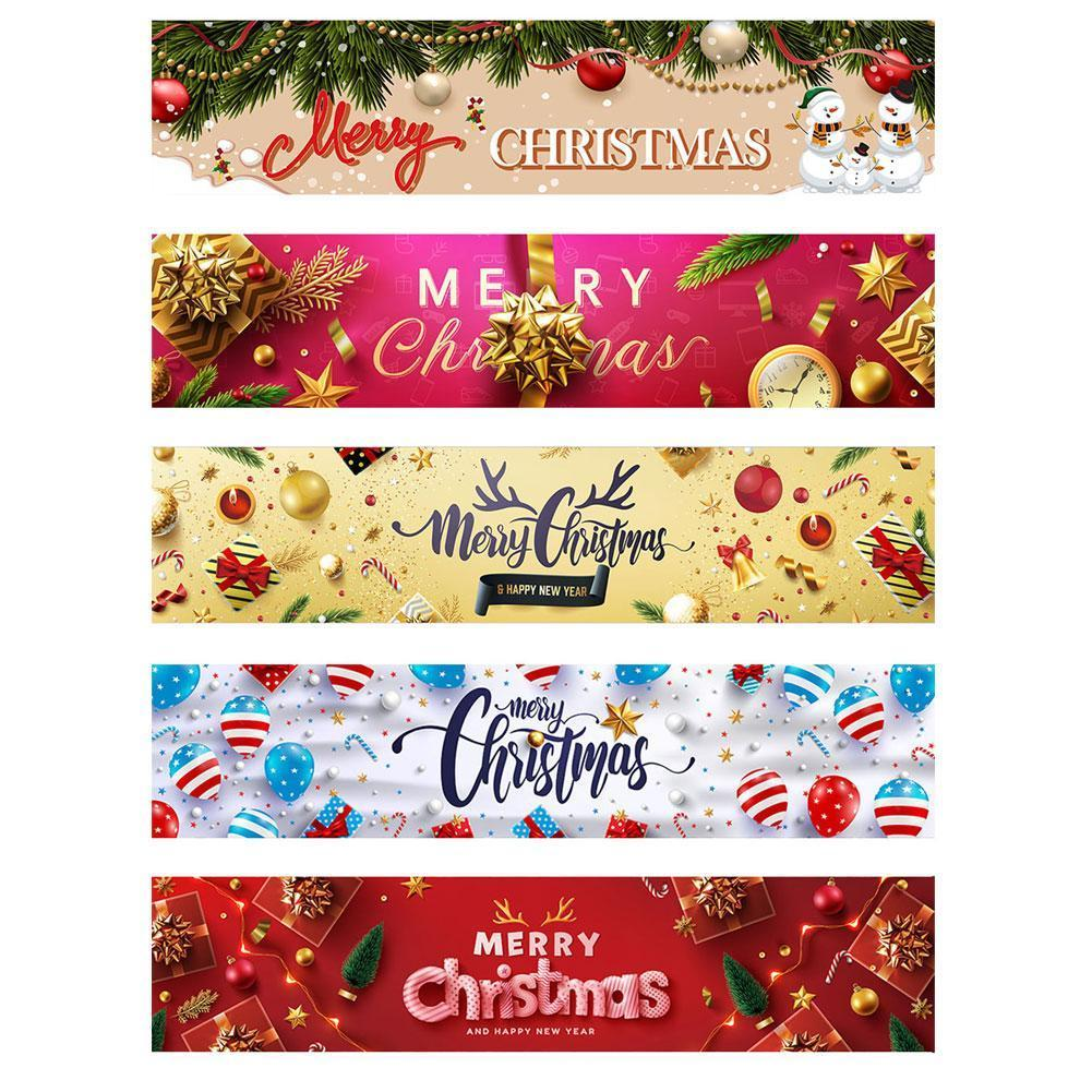 40*180cm Merry Christmas Banner Garden Courtyard Wall Tree Decoration Happy New Year Gift Indoor Outdoor Christmas Ornaments