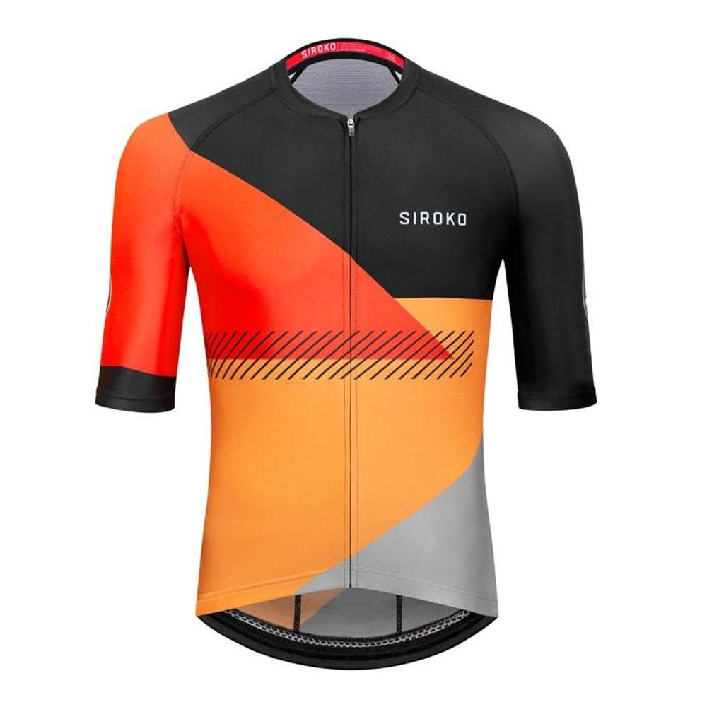 Siroko-Camiseta de manga corta para ciclismo, Ropa transpirable para deportes al aire...