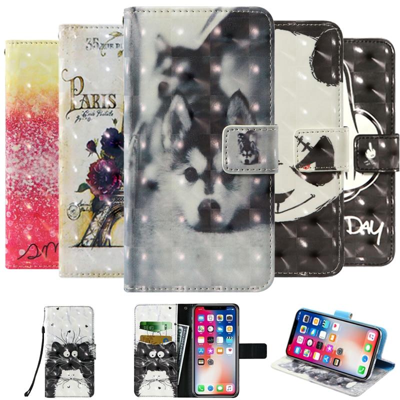 3D Flip wallet Leather case For Ark Ukozi U6 Billion Capture Plus Blackview A60 Pro Blu G9 BQ 5528L Strike Forward Phone Cases