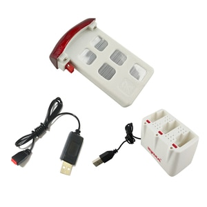 3.7V 500mAh Battery 3in1 Charger Box Stand USB Charging Line Wire Cable for Syma X5U X5UC X5UW RC Quadcopter Drone Parts