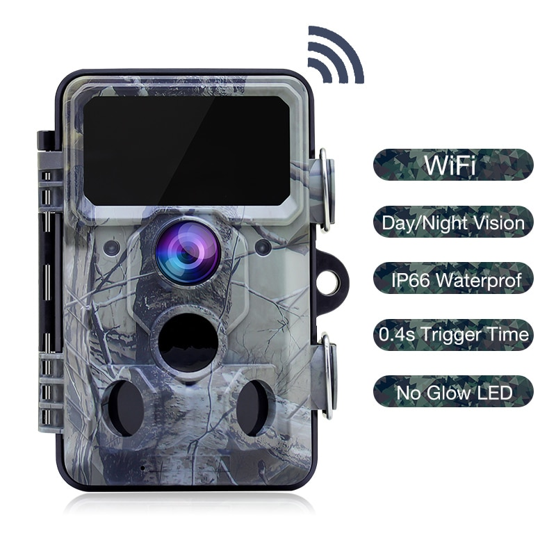 Wildlife Trail Hunting Camera APP WIFI Night Vision 24MP 1296P 0.3s Trigger Time Infrared Hunting Game Camera