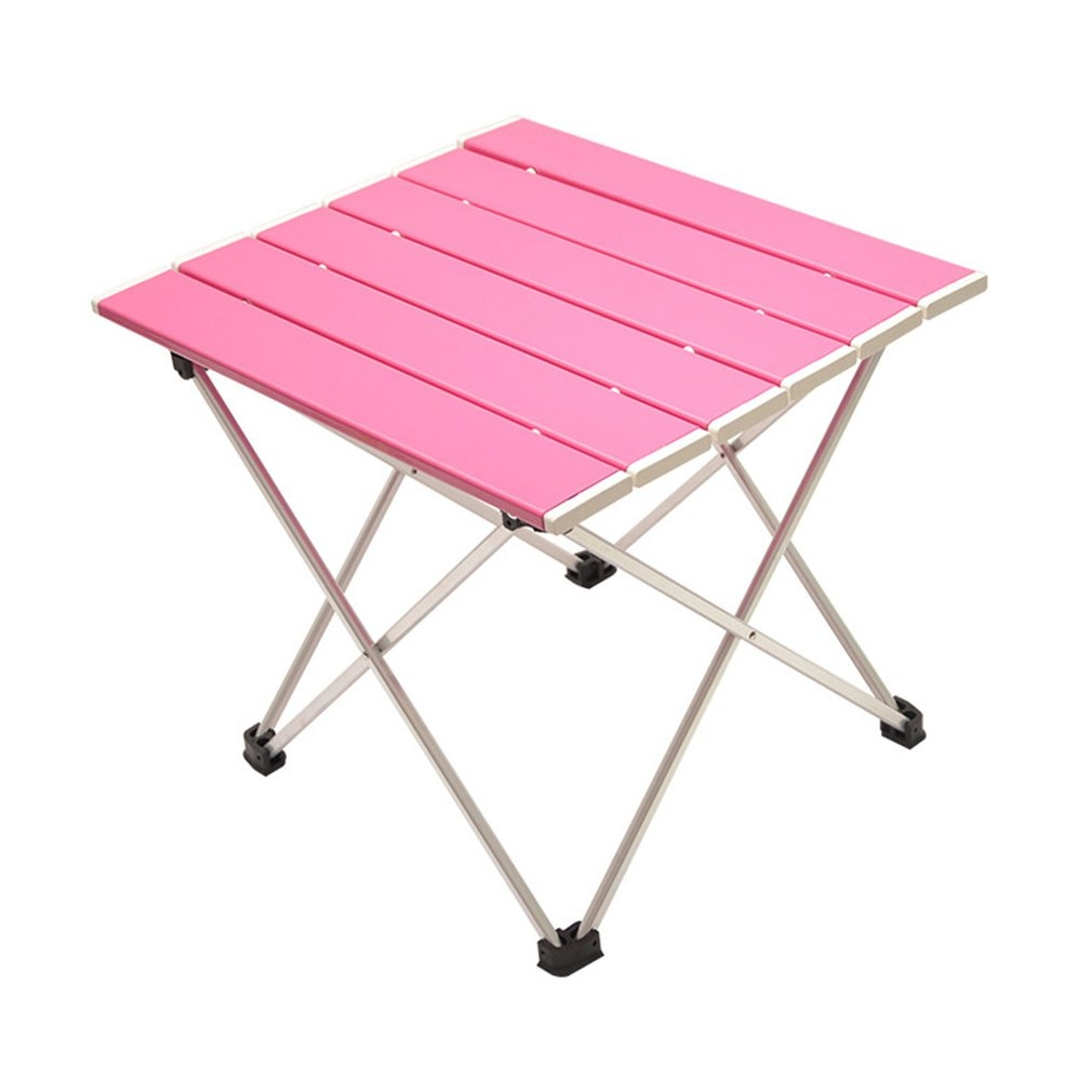 Aluminum Alloy Portable Table Foldable Folding Camping Hiking Desk Traveling Outdoor Picnic New Blue Gray Pink Black Ultra-Light