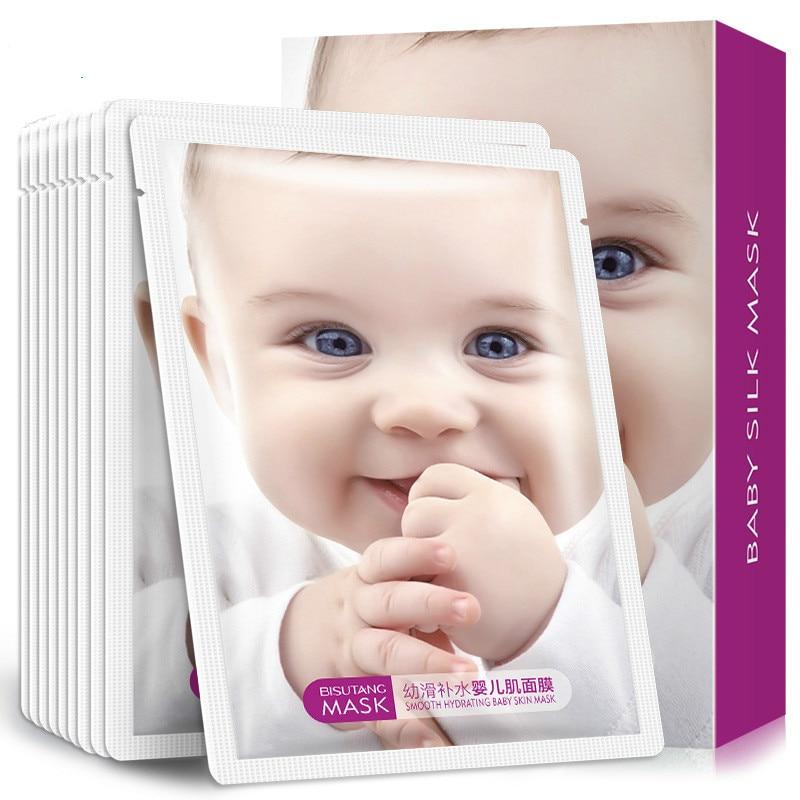 10PCs Young Slip Rehydration Moisturize Baby Muscle Moisturizing Skin Shrink Pore Control Oil Mask Paste