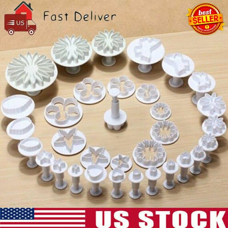 33 piezas Fondant pastel decoración Sugarcraft émbolo herramientas molde galletas juego de utensilios de cocina