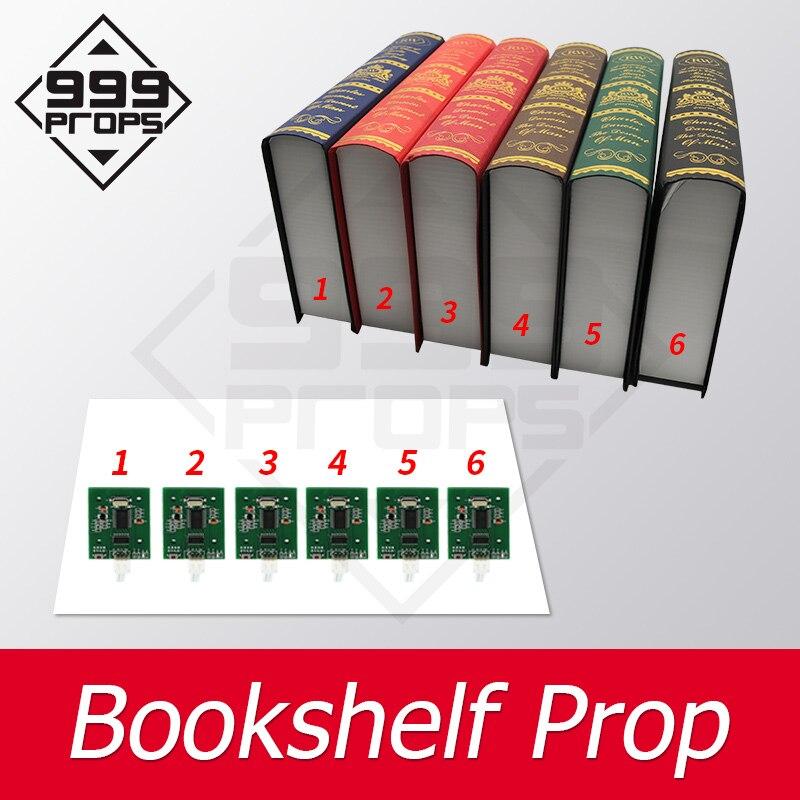 999 accesorios de estantería accesorio de escape de la habitación colocar todos los libros en lugar de corrct para abrir maglock escape PROPS RFID sensor props