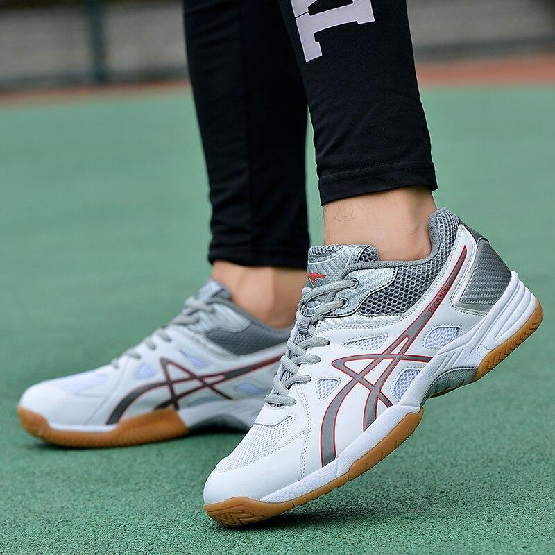 New Professional Badminton Shoes Men Big Size 39-46 Anti Slip Badminton Sneakers Light Tennis Shoes Men Volleyball FootWears 2018 new arrival puma men s tsugi jun cubism sneaker badminton shoes size36 44