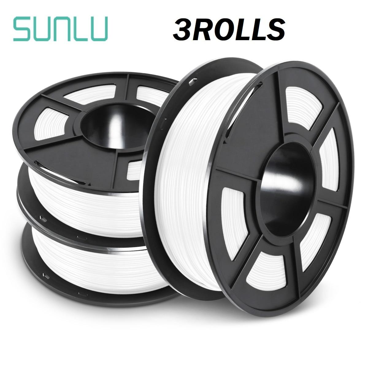 SUNLU-خيوط للطابعة ثلاثية الأبعاد ، مادة مستهلكة ، صلابة جيدة ، PETG ، 1 كجم مع بكرة ، عاكس الضوء ، 1.75 مللي متر ، petg