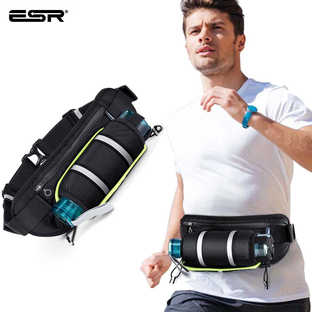 ESR Outdoor Sport Running Waist Bag Cycling Bag with Water Bottle Holder Organizer Waist Pouch Waterproof Unisex Waist Pack Bags