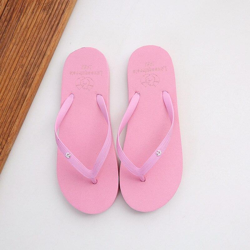 Women Beach Slippers Non-slip Soft Sole Couple Sandals 2021 Summer Flip Flops for Women Cute Candy C