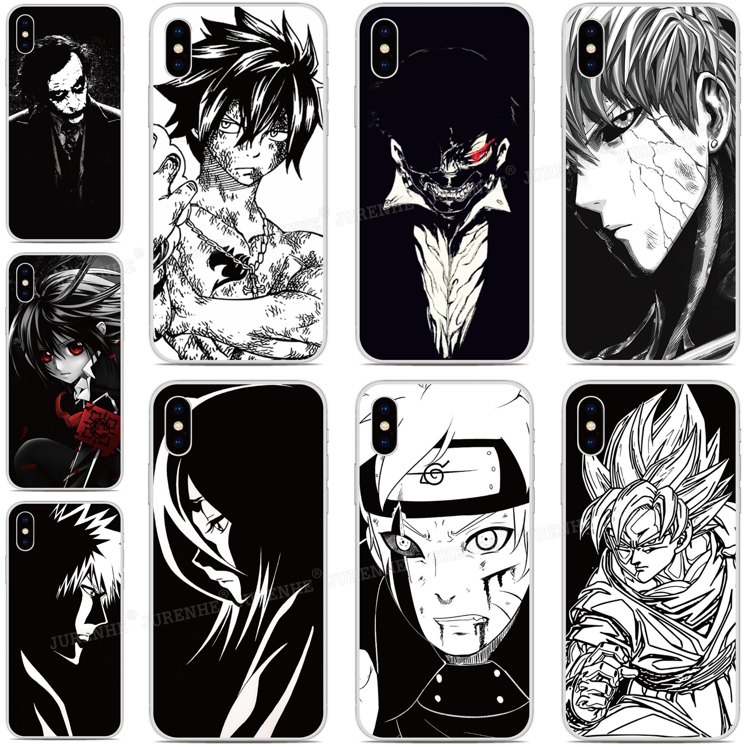 2019 negro blanco Anime cubierta de teléfono de TPU suave para LG K50s K40s K20 K30 K40 K50 Q60 X2 G8X G8S V60 ThinQ K61 K51S K41S cubierta