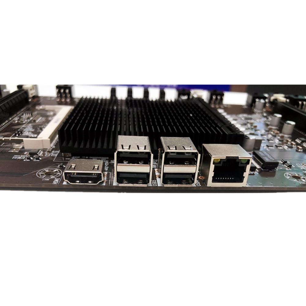 اللوحة الأم HM65 + 847 المتكاملة وحدة المعالجة المركزية BTC mning آلة 8 فتحات بطاقة DDR3 الذاكرة اللوحة الأم ل Rx580 1660 2070 3090