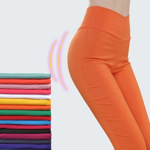 High Waist Women's Pants Woman Harajuku Leggings White Black Stretch Trousers for Women Spring Pencil Pants Female Plus Size New