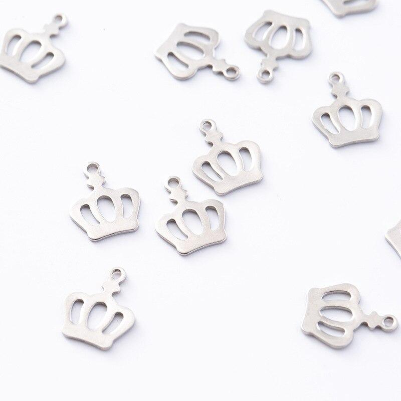 Corona accesorios de acero inoxidable accesorios materias primas festival de las niñas nuevos accesorios nombre COLLAR COLGANTE