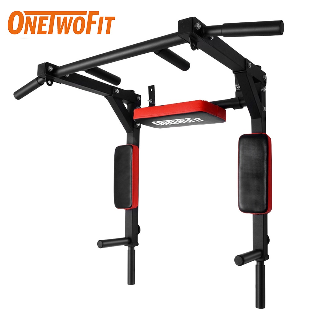 OneTwoFit Pull Up Bar Dip Station Wall Mounted Pull-up Bar Gym Fitness Equipment for Home Gym Indoor Sport Barra Dominadas Pared
