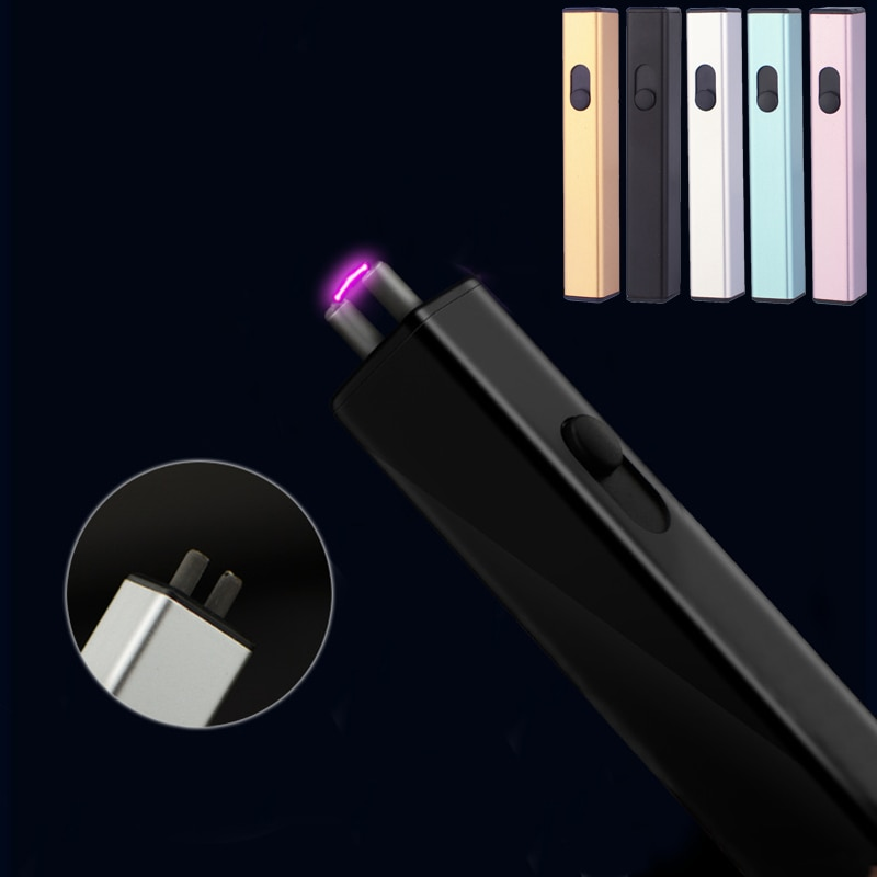 Electric Arc Plasma Mini Lighter, Rechargeable and Windproof USB Thin Electronic Lighter Used for Cigarette Candle Grill Kitchen enlarge