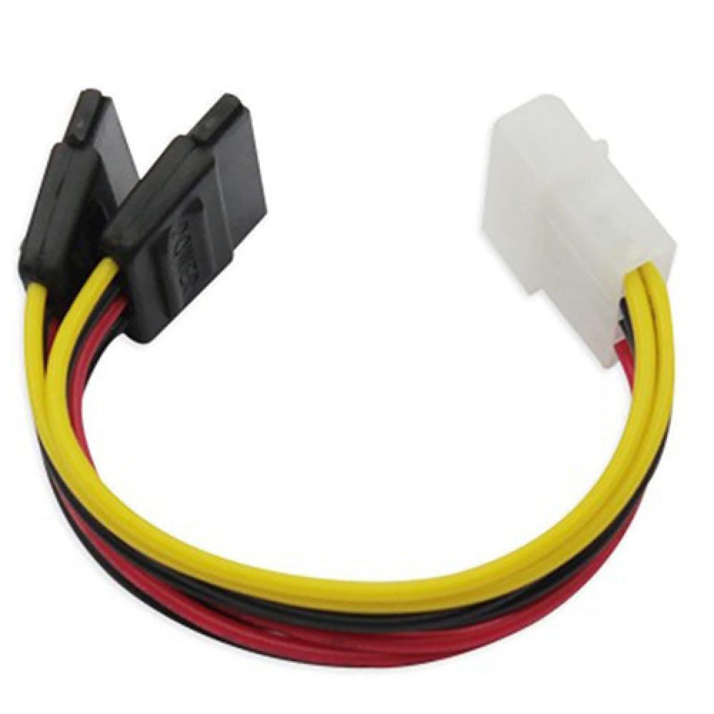 4 Pin IDE Molex to 15 Pin 2 Serial SATA Hard Drive Power Adapter Cable sata to esata 4 pin ide power port bracket cable w power cable esata cable black red silver